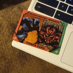 Black panther/ Mephisto marvel card